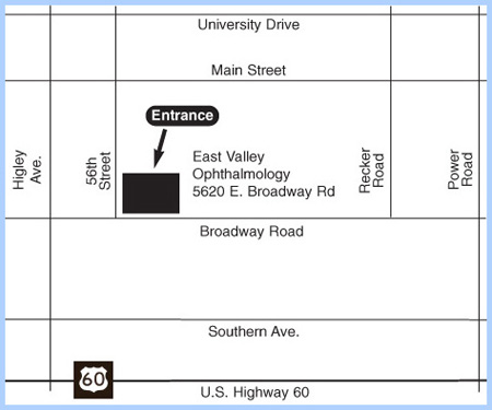 Map And Directions East Valley Ophthalmology